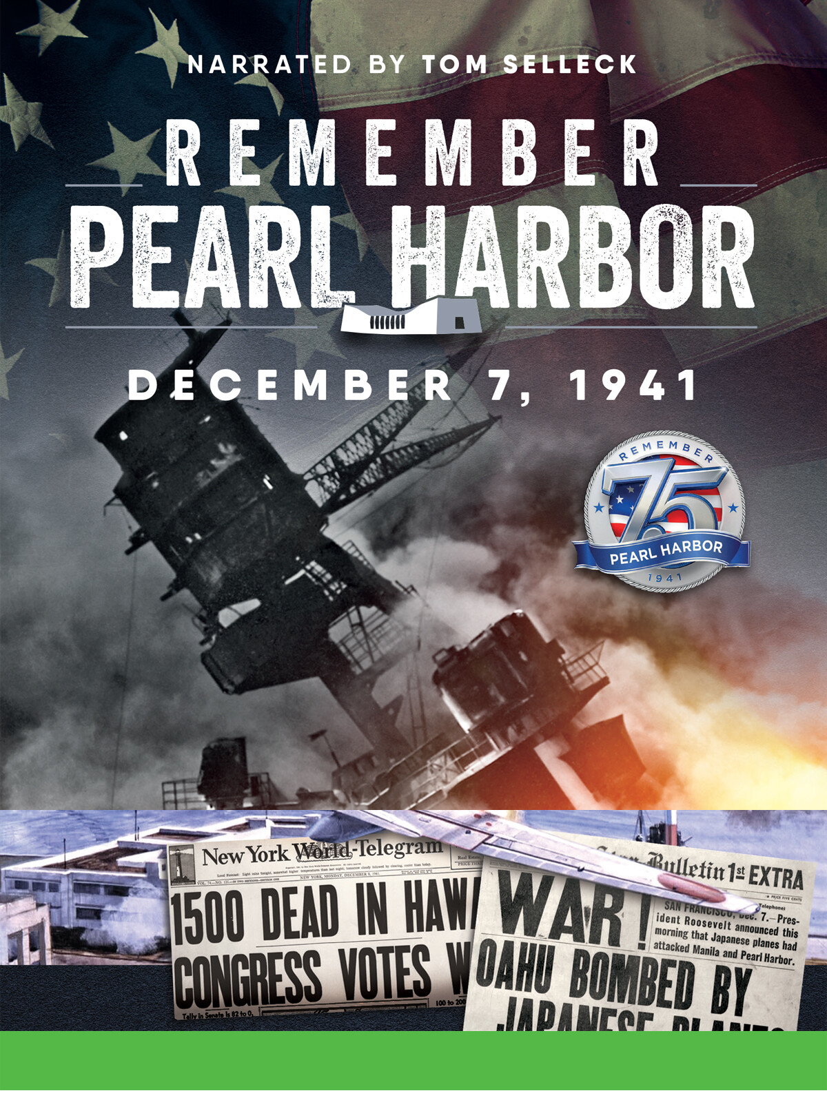 JW2616 - Remember Pearl Harbor Narrated by Tom Selleck