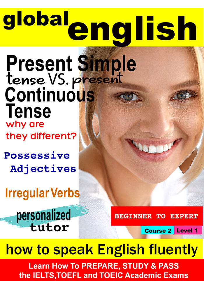 K7006 - Review of the Present Simple Tense with Irregular Verbs, Present Simple Tense vs. Present Continuous Tense (why are they different?) and Possessive Adjectives (Lesson 1)