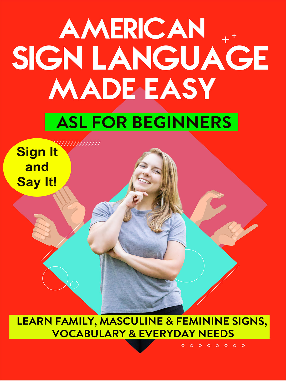 K9802 - ASL - Learn Family, Masculine & Feminine Signs, Vocabulary & Everyday Needs