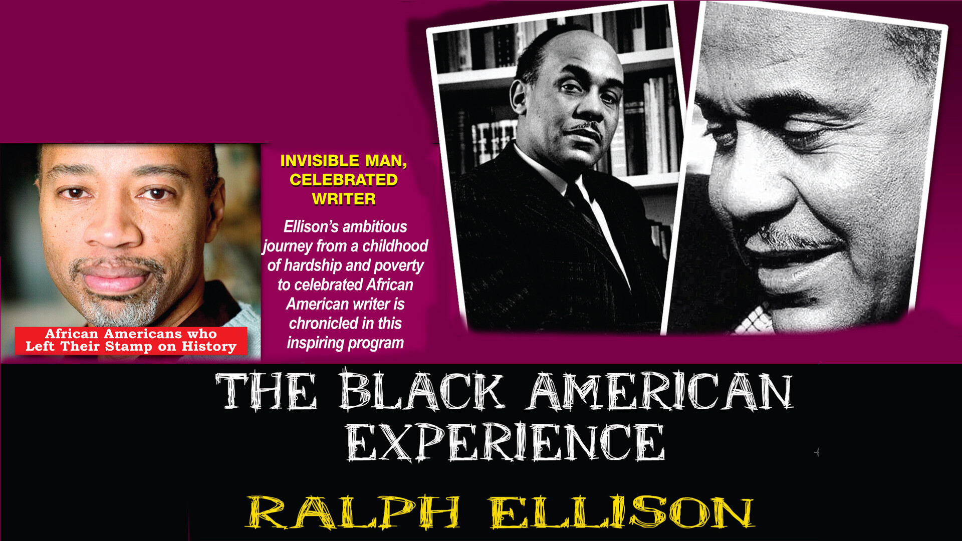 L5735 - Ralph Ellison Invisible Man, Celebrated Writer